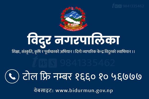 bidur municipality toll free number