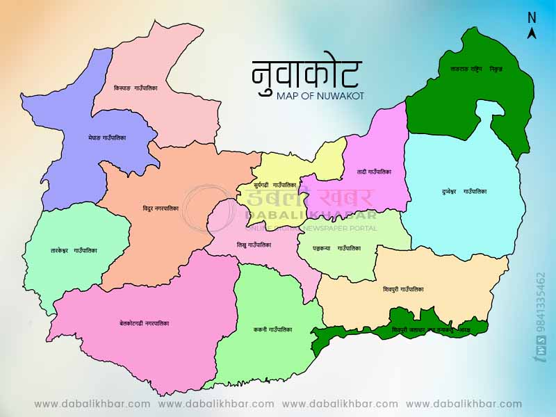 Map of Nuwakot