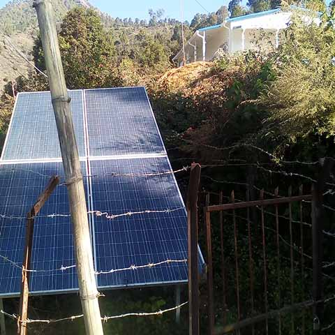 Water Supply from Solar Panel in Nuwakot