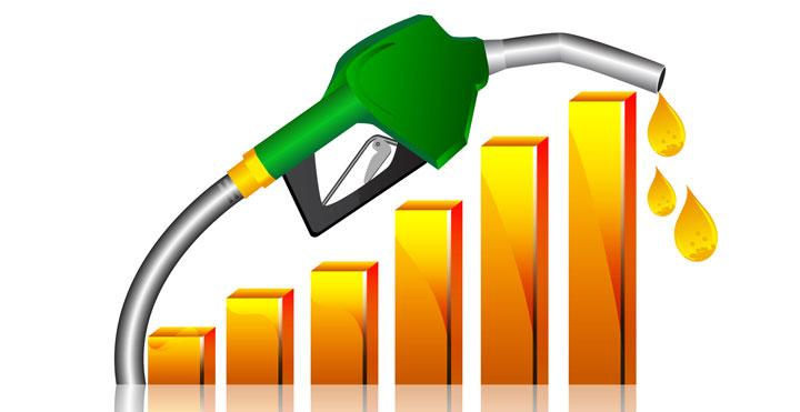 rising rate of petrol