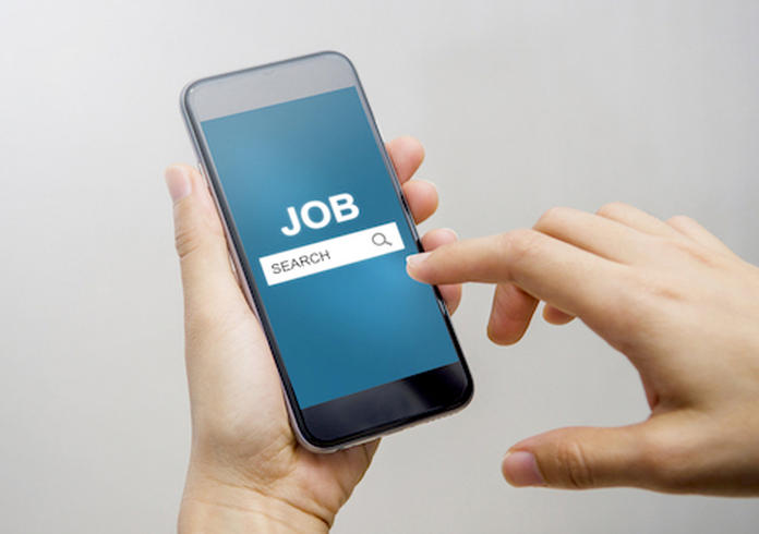 Job Search on mobile smartphone,