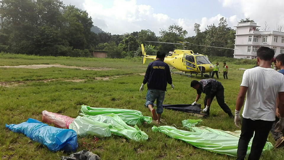 Death Body Altitude Air Helicopter Accident