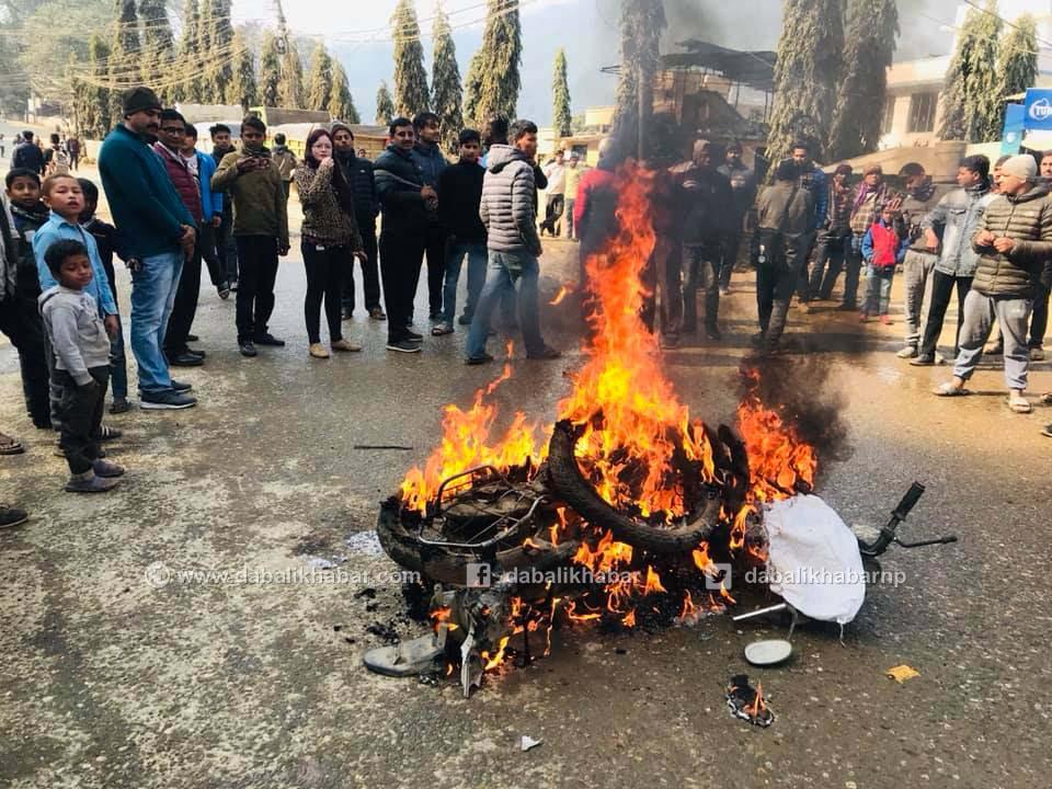 sadak nuwakot banda strike trishuli