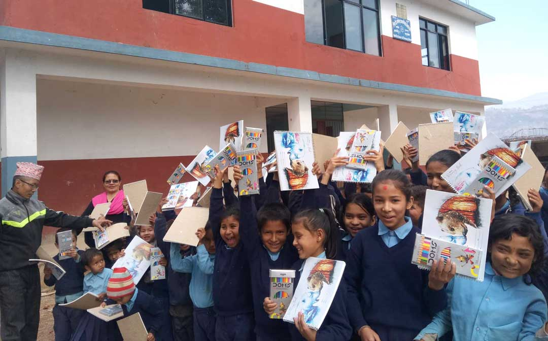 educational material distribution from parcel of peace nepal