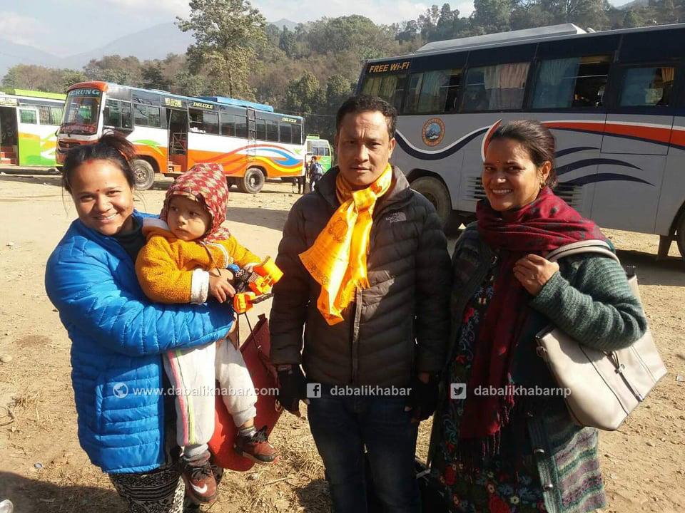 returning passenger goods timure bus nuwakot rasuwa
