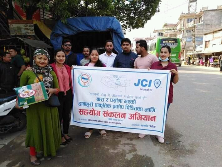 nuwakot jci flood victim program bara and parsa