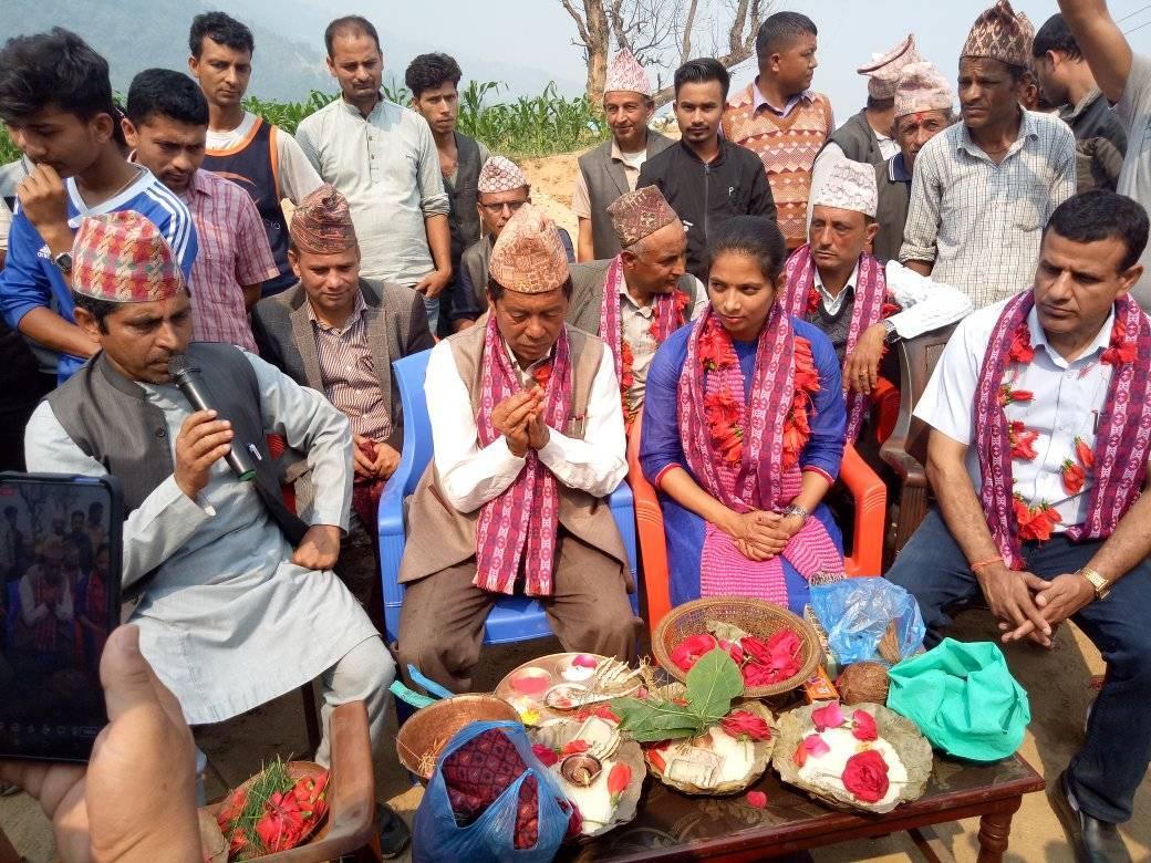 inauguration of belkotgadhi municipality ward 9 nuwakot
