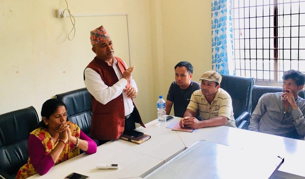 mayor sanju pandit discussion with parent of prithvi secondary school bidur nuwakot