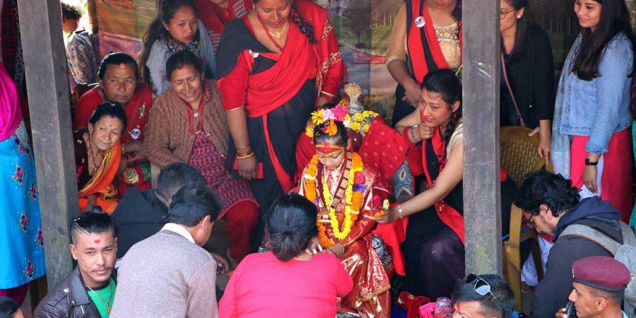 nuwakot goddess kumari puja 2020 dinisha dangol