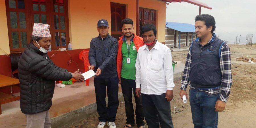 mero micro finance cash doante belkotgadhi municipality nuwakot corona-min