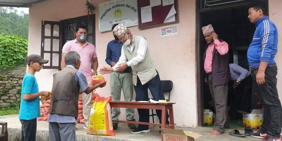 covid 19 lockdown janakalyan youth club food donate to 252 family in bidur municipality ward 7