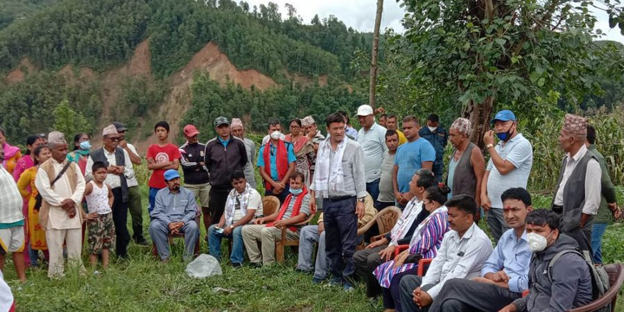 likhu rural municipality nuwakot ward 1 building foundation