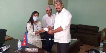 health insuranced nuwakot bidur ward chairman lenin ranjit