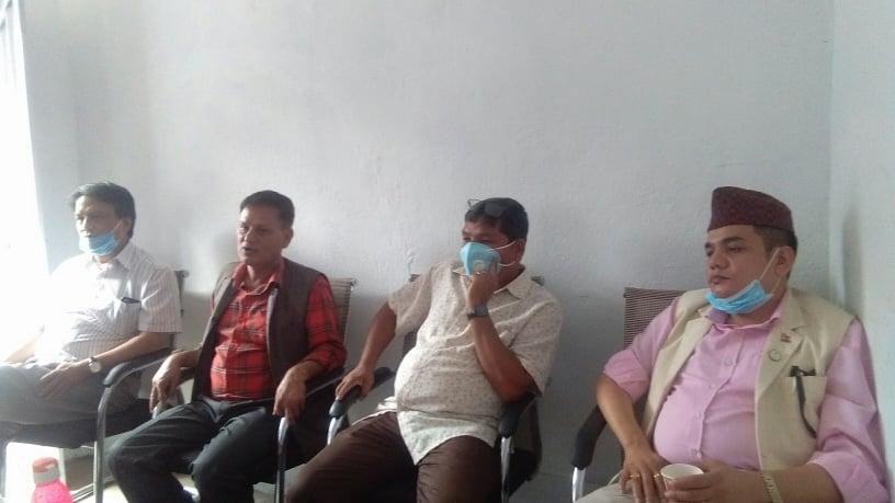 keshav raj pandey and rajendra prakash lohani meets cpuml nuwakot