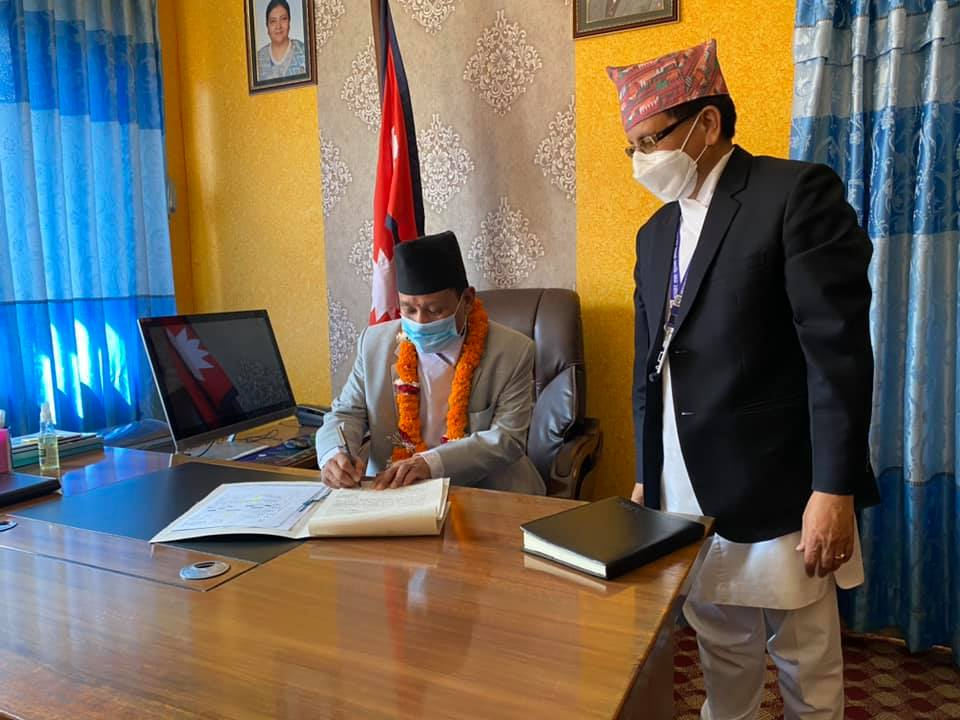 parbat gurung minister information and technology