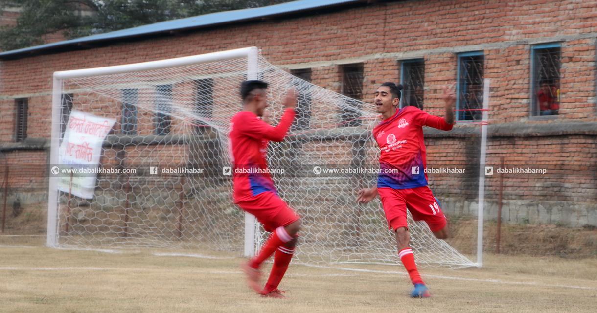 bagamati league football nuwakot united footballer hardik bhandari