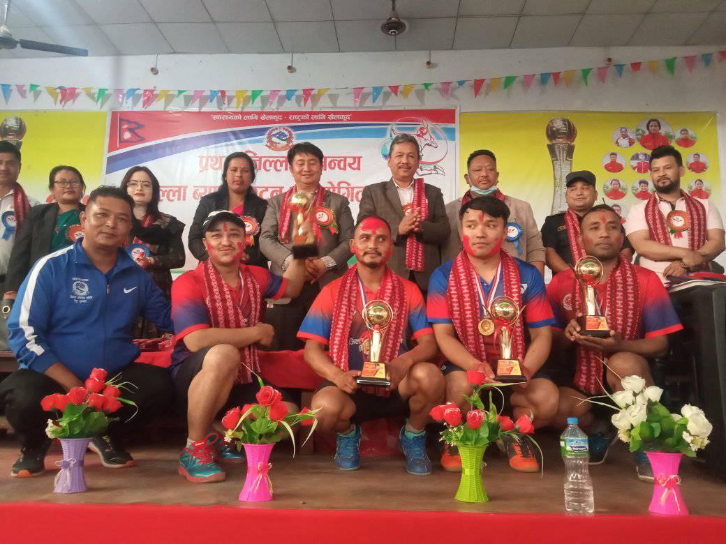 first district cordinatino badminton competition nuwakot