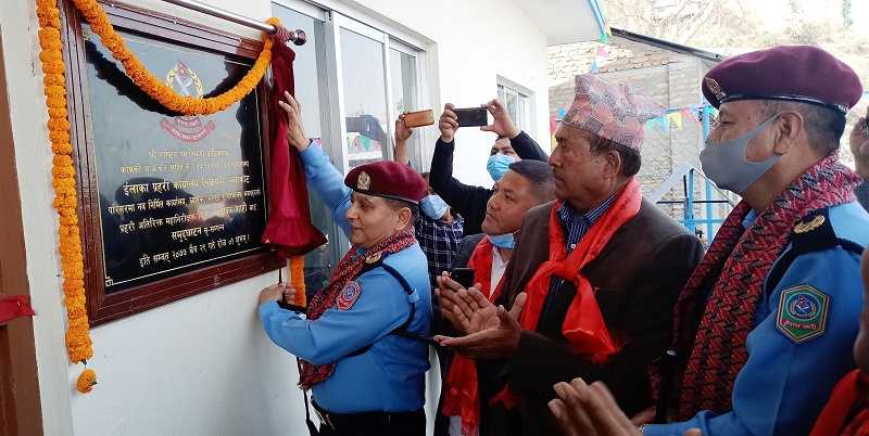 Sikre police building inauguration