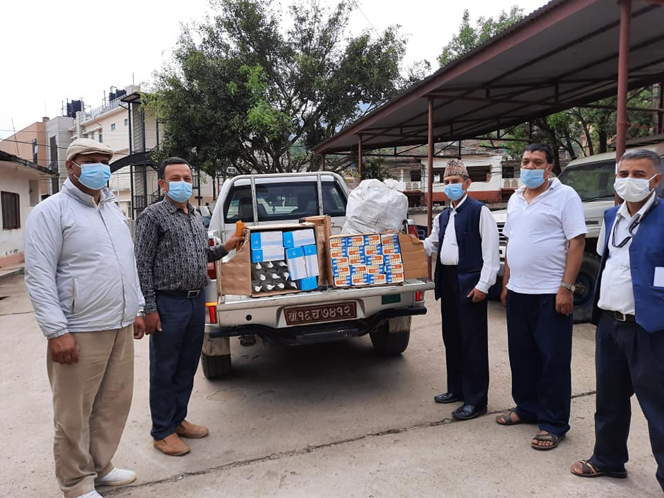 cdc handover covid personal protected equipment to health office nuwakot