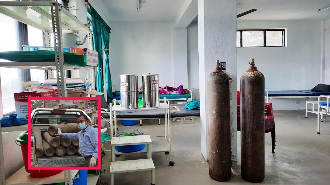 kispang rural municipaliyt isolation bed with oxygen setup in nuwakot