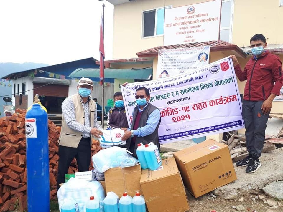 bhim lal tamang provided covid-19 medicine to kispan rural municipality