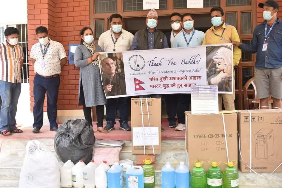 covid health material donate to shivapuri rural municipality nuwakot