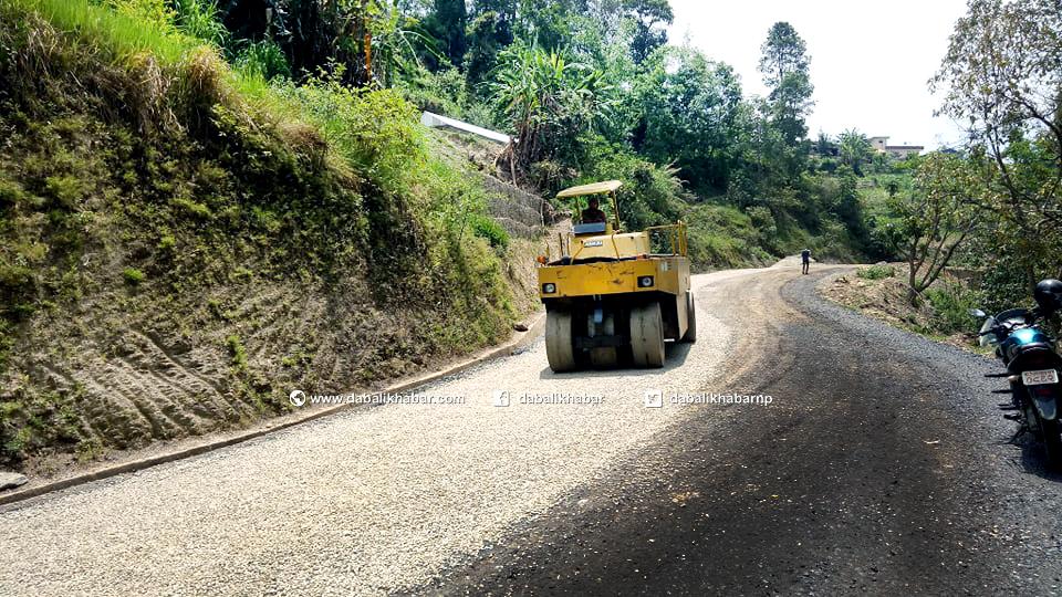 dhamale jiling road nuwakot dabali khabar