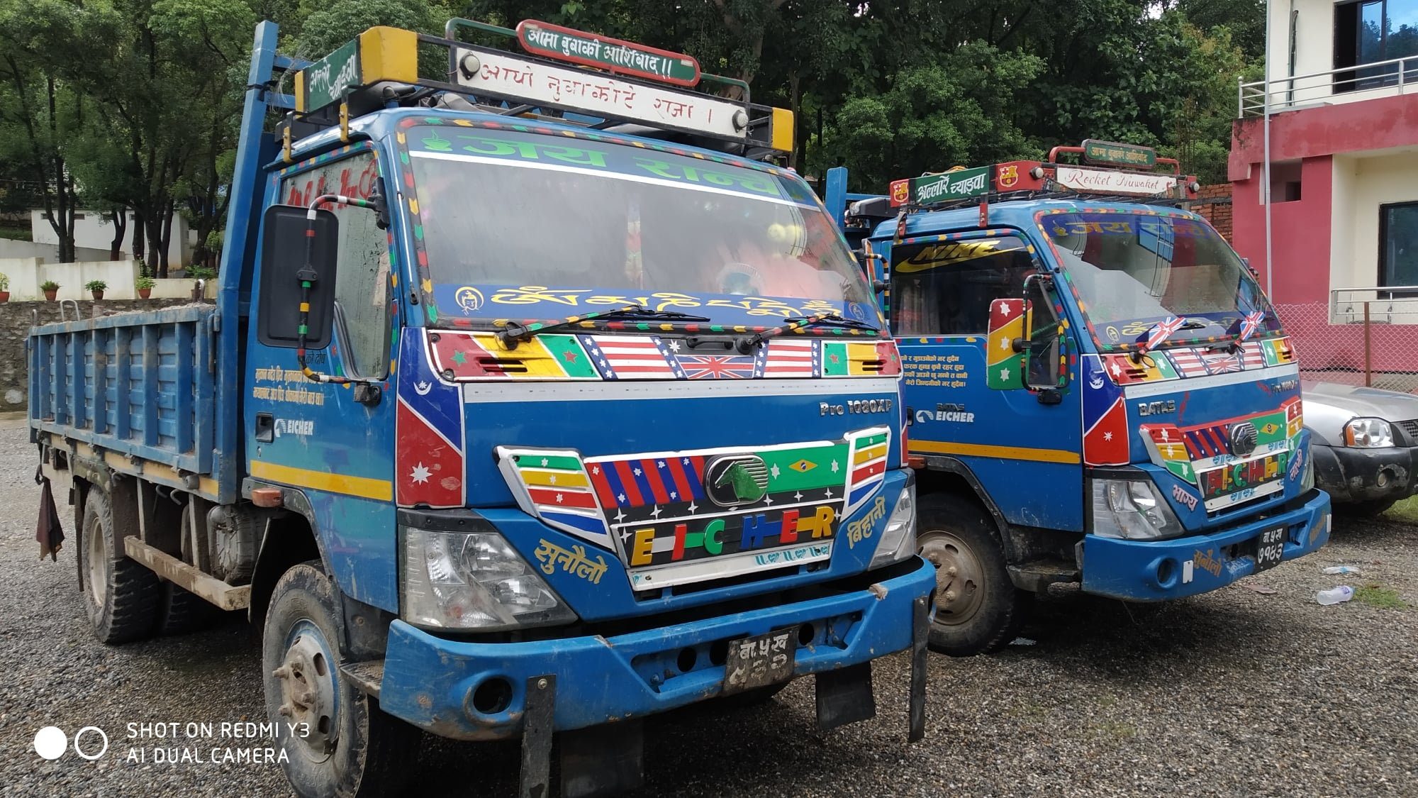 arrested to two Eicher vehicle