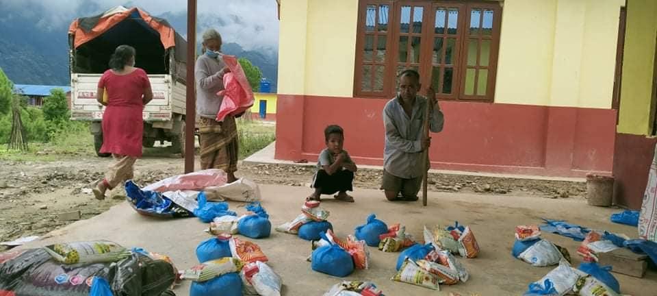 food distribution in belkotgadhi nuwakot