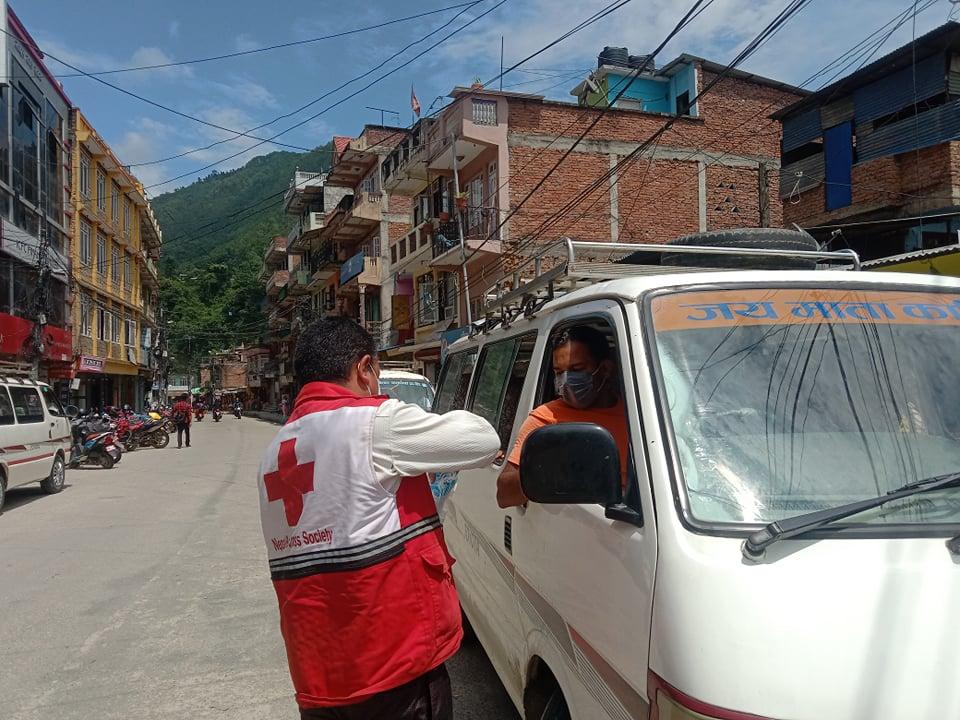 nepal mask abhiyan nuwakot redcross