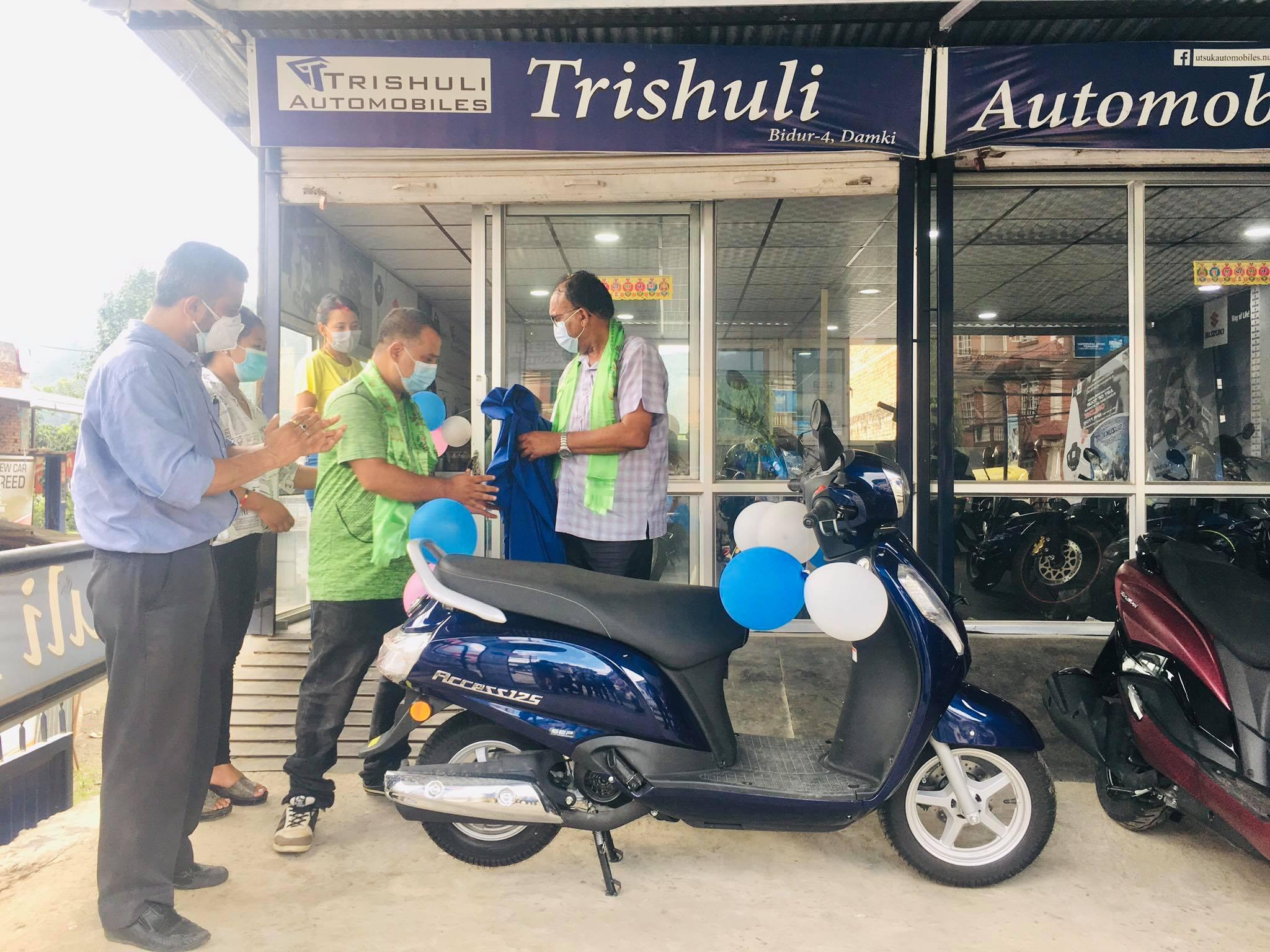 Suzuki access scooter nuwakot