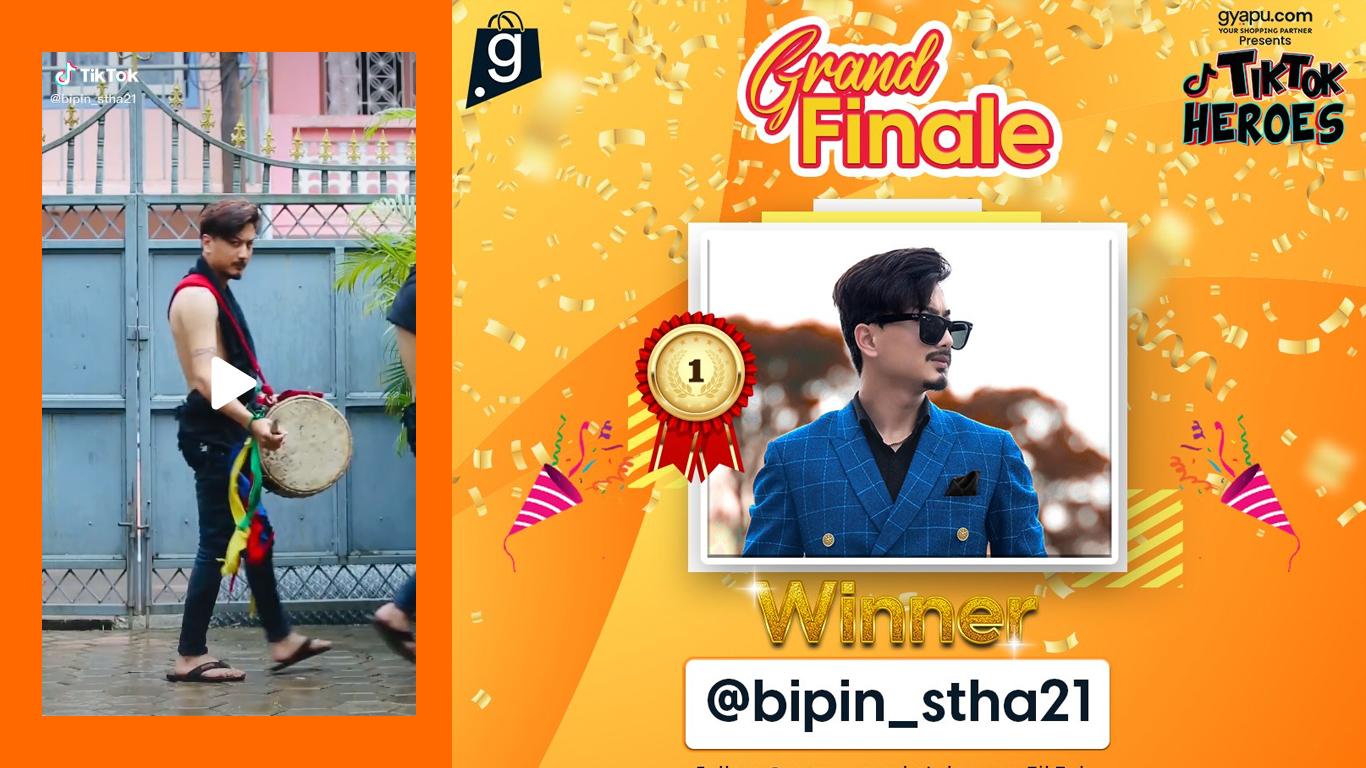 bipin gyapu tiktok hero's winner